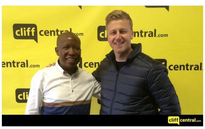 malema and cliff