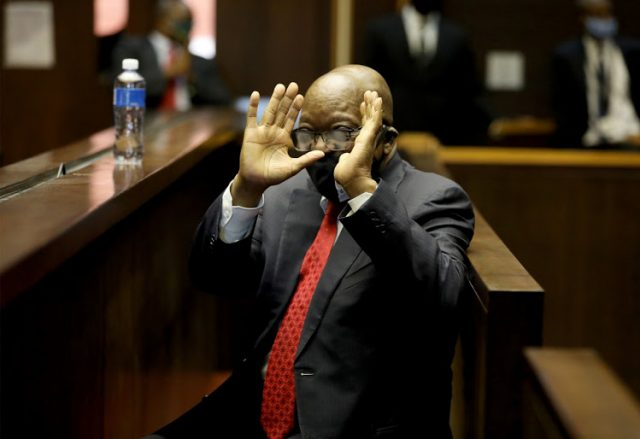 Cheerful former President Zuma confident corruption case will be finalized this year