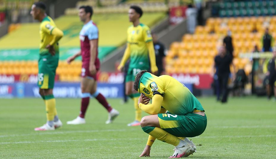 Norwich relegated from Premier League