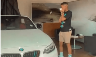 Lasizwe spoils himself with a brand new BMW Convertible Car