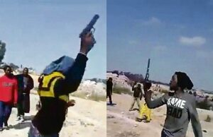 Scary video of Zama Zamas waving guns while singing angers South Africans