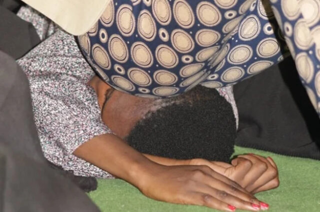 Prophet performs miracles by sitting on people's faces and Anointedly farting on them