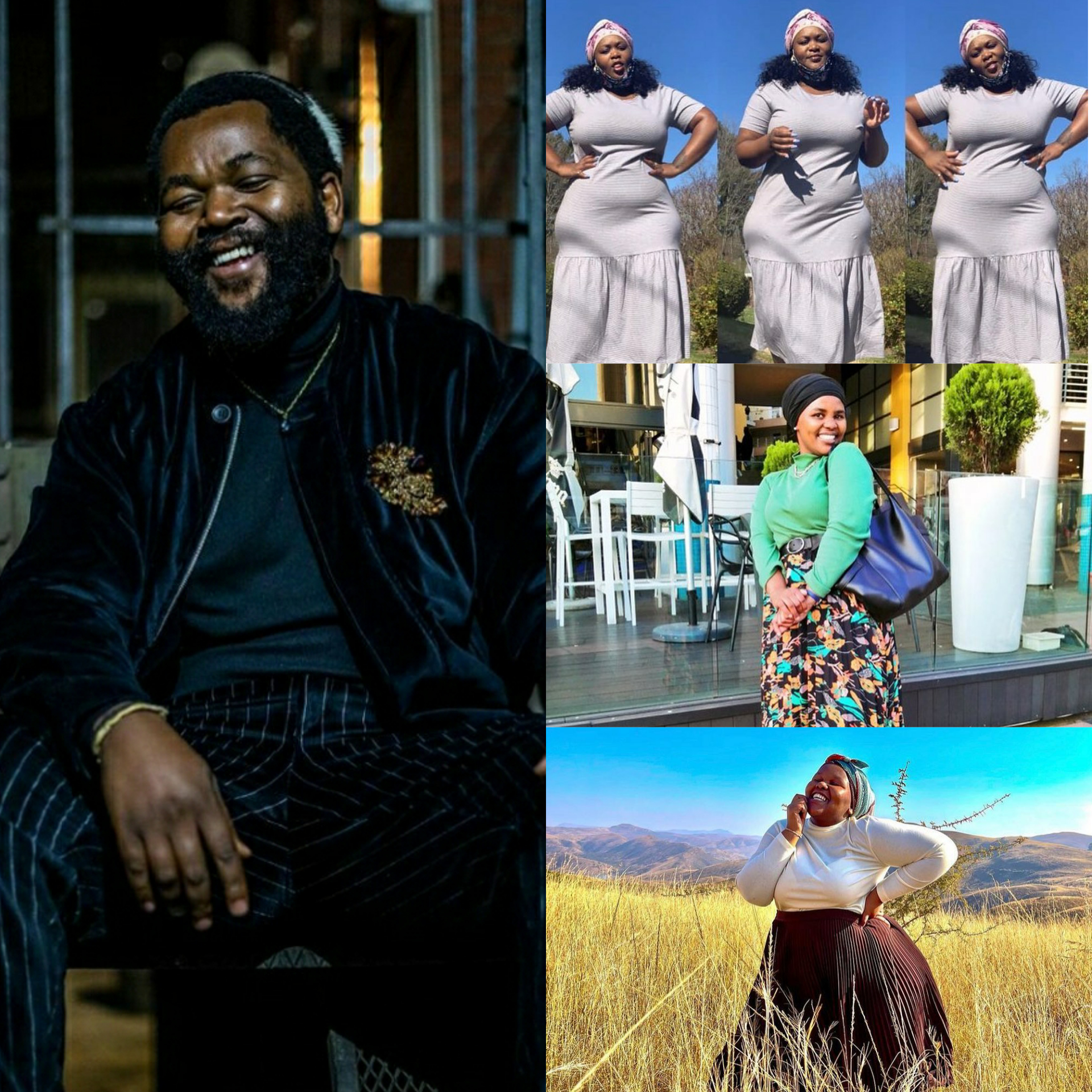 Sjava shows off his three wives